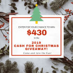 Need some extra cash for Christmas? We've got you covered--to the tune of $430! Enter here and get ready to score big with saving money this holiday season! Budget-friendly to the max!