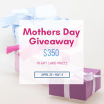 Treat yourself, mama! $350 of Mother's Day gift cards up for grabs HERE! Use them for gifts or spend them all on yourself...we'll never tell! ;)