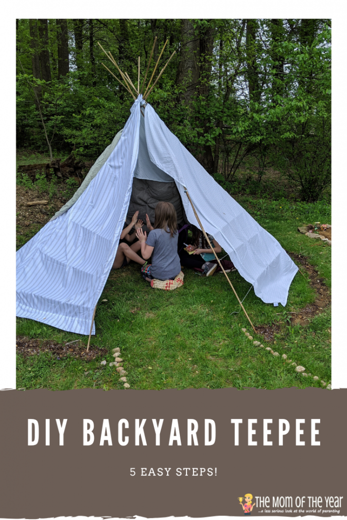 DIY Backyard Teepee