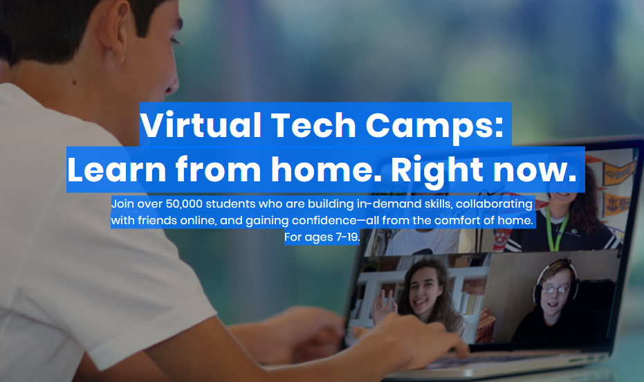 This online STEM camp is GENIUS for your kids! With virtual camp and online private lesson options, they work for your life NOW, with everything going on. Bonus? You snag a some alone time while kids build their STEM skills. Score!