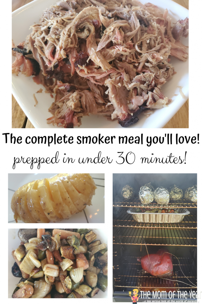 Looking for a sweet summer dinner? This complete smoker meal is EASY and QUICK--genius for all of your summer hosting gigs!