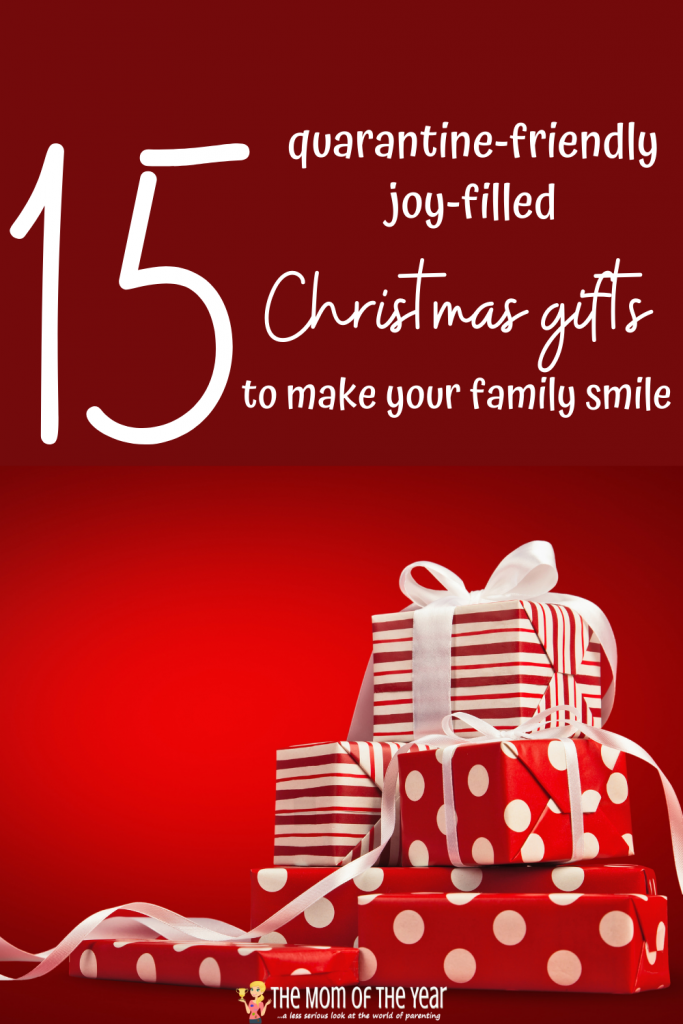 We need Christmas smiles now more than ever! Check these 15 quarantine-friendly, joy-filled gifts to spread holiday cheer with your family!