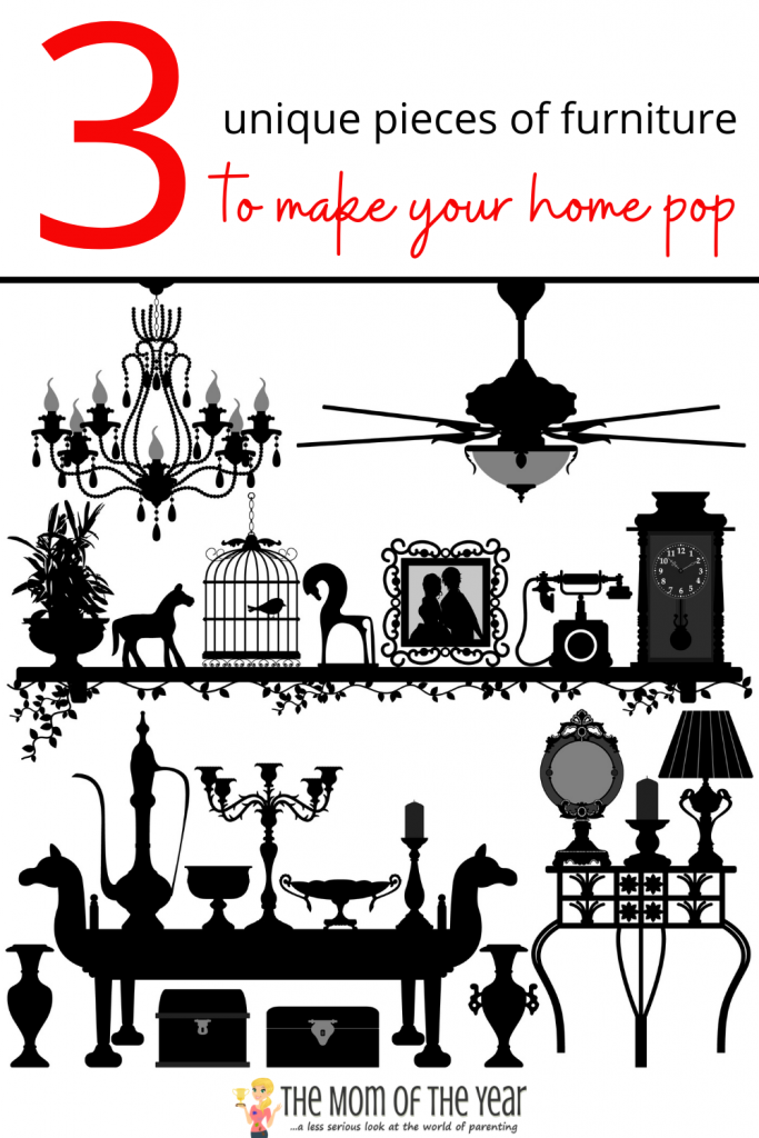 These 3 unique pieces of furniture are such an easy way to add fun accents to your home! #2 is my favorite!