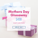 I love this giveaway because if you're not sure what to get mom, you can't go wrong with a Mother's Day gift card to the store of her choosing!