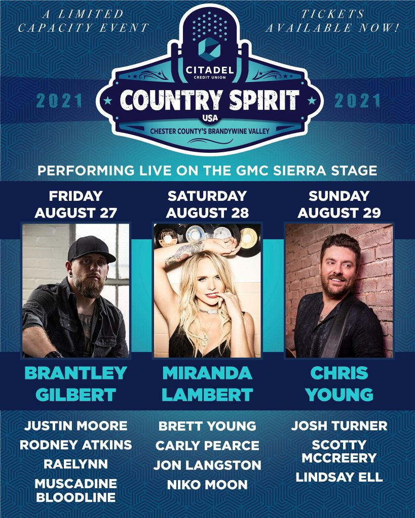 I love this festival! Country Spirit USA 2021 is ON!! Come out with your family and kick back in the country music spirit!