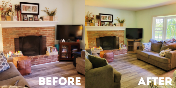 Time for a living room refesh? Check this smart hack that spruced up our space easy-peasy! Score!
